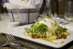Salada de Lardon fotos de stock royalty free