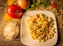 Salada de macarrão fresca Imagem de Stock
