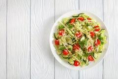 Salada de massa fresca em uma placa Imagens de Stock Royalty Free