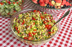 Salada de milho fresca imagens de stock