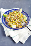 Salada de milho mexicana caseiro Fotos de Stock Royalty Free