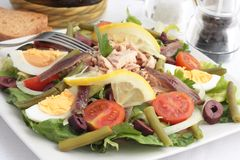 Salada de Nicoise Foto de Stock