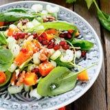 Salada de nutrição com aipo e abóbora Imagens de Stock Royalty Free
