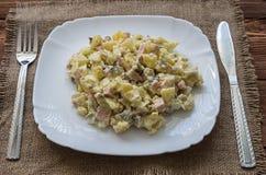 A salada de Olivier Imagem de Stock Royalty Free