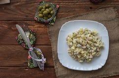 A salada de Olivier Imagem de Stock