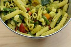 Salada de Penne Pasta da praga Fotos de Stock Royalty Free