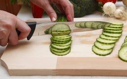 Salada de Prepairing Foto de Stock Royalty Free