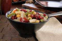 Salada de quatro feijões foto de stock royalty free