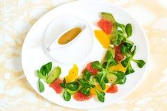 Salada de Rapunzel com fruto Foto de Stock Royalty Free