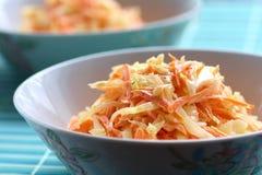 Salada de repolho caseiro imagens de stock