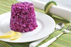 Salada de repolho com repolho vermelho Foto de Stock Royalty Free