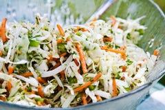 Salada de repolho da bacia fotos de stock