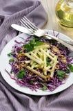 Salada de repolho e maçã vermelhas da salada Fotos de Stock Royalty Free