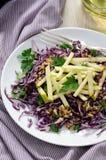 Salada de repolho e maçã vermelhas da salada Imagens de Stock