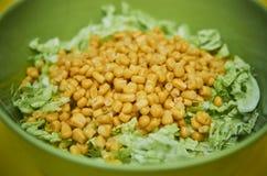 Salada de repolho e milho Foto de Stock