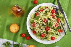 Salada de Risoni com brotos e vegetarianos Imagem de Stock