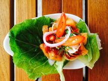 Salada de Salmon Thai Foto de Stock