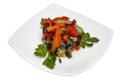 Salada de uma paprika e das beringelas Fotos de Stock Royalty Free