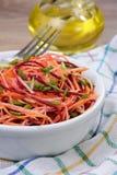 Salada de vegetais shredded Fotos de Stock Royalty Free