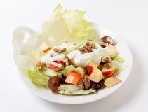 Salada de Waldorf sobre o branco Fotografia de Stock Royalty Free