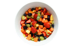 Salada deliciosa da fruta fresca Fotografia de Stock