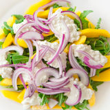 Salada deliciosa de Rucola Fotos de Stock Royalty Free