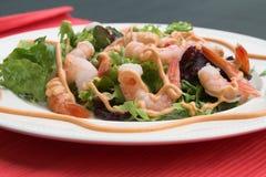 Salada deliciosa do camarão Fotografia de Stock