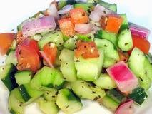 Salada deliciosa do tomate do pepino Imagem de Stock Royalty Free