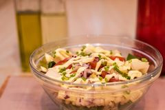 Salada deliciosa e saudável Fotografia de Stock