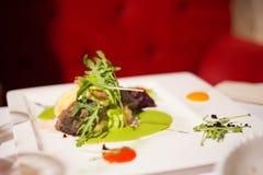 Salada deliciosa verde fotografia de stock royalty free