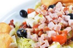 Salada desbastada fresca do presunto Imagens de Stock