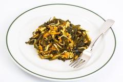 Salada do aipo com alga Imagens de Stock Royalty Free