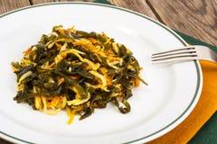 Salada do aipo com alga Fotografia de Stock