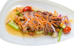 Salada do aipo com carne de porco grelhada Imagem de Stock