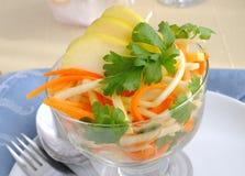 Salada do aipo com cenoura e maçã Imagens de Stock Royalty Free
