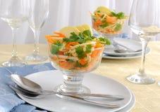 Salada do aipo com cenoura e maçã Foto de Stock Royalty Free