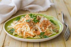 Salada do aipo com cenouras, nozes e salsa Imagem de Stock