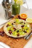 Salada do aipo com datas, amêndoas e queijo Foto de Stock