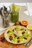 Salada do aipo com datas, amêndoas e queijo Imagem de Stock Royalty Free