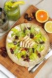 Salada do aipo com datas, amêndoas e queijo Fotos de Stock Royalty Free