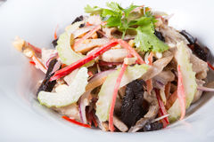 Salada do aipo com porcas e frutos Imagem de Stock