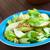 Salada do aipo, da pera e da noz Fotografia de Stock Royalty Free