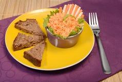 Petisco da salada da cenoura do aipo Fotografia de Stock Royalty Free