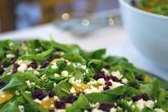 A salada do alimento imprensa o jantar da refeição da sobremesa Foto de Stock