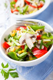 Salada do arroz com cogumelos e vegetais fotos de stock royalty free