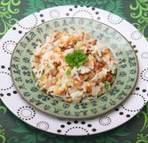 Salada do arroz e das lentilhas Fotos de Stock Royalty Free