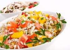 Salada do arroz e do vegetal foto de stock