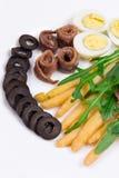 Salada do aspargo com anchovas Fotografia de Stock Royalty Free