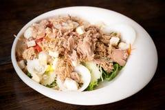 Salada do atum e do vegetal dos mixs imagens de stock royalty free