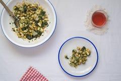 Salada do bacalhau Foto de Stock
